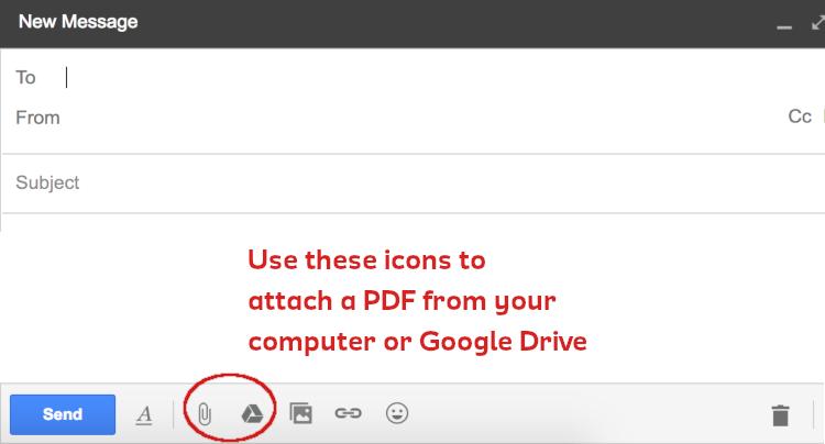 Screenshot create new email