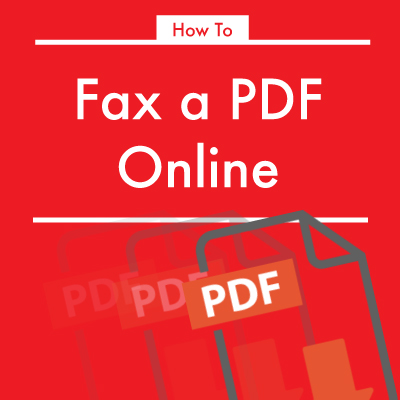 how to fax a pdf online